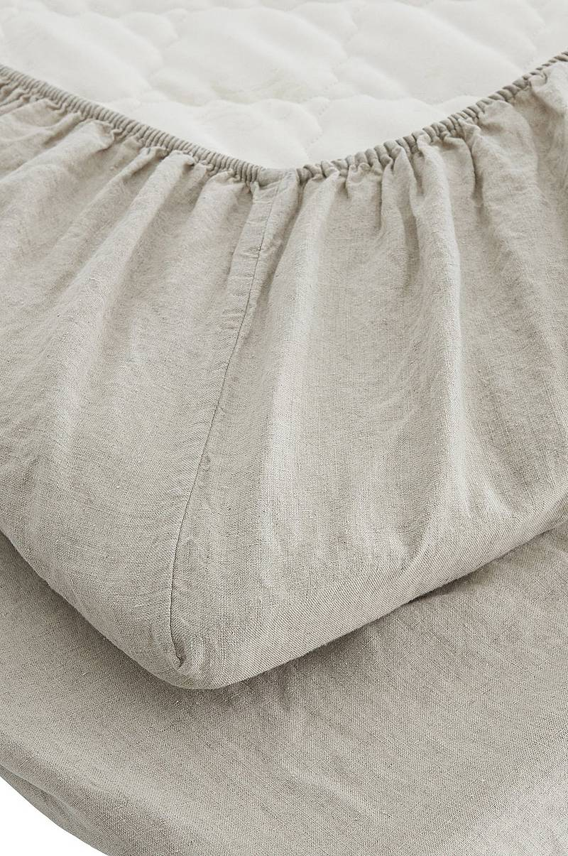 Underlakan Washed Linen Fitted Sheet