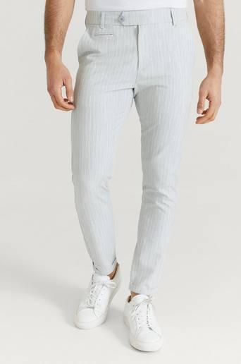 Les Deux Como Light Pinstripe Suit Pants Grå