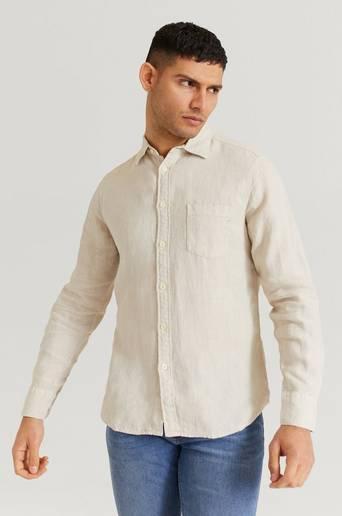 Replay Skjorta Shirt Beige