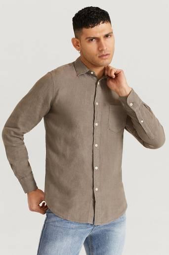 Replay Skjorta Shirt Brun