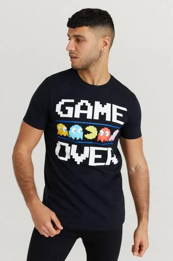 Rock Off T-Shirt Pac-Man Tee Svart