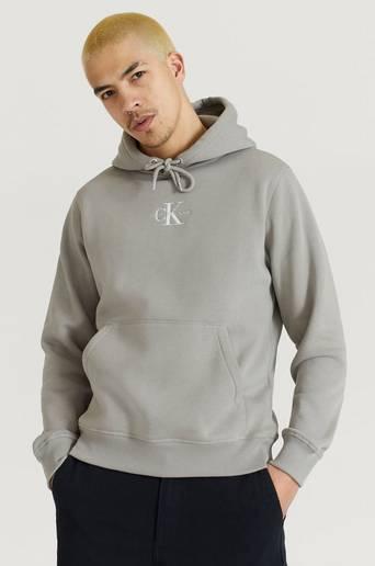 Calvin Klein Jeans Hoodie New Iconic Essential Hoodie Grå