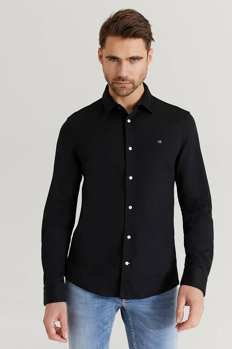 Skjorta Slim Fit Knitted Shirt