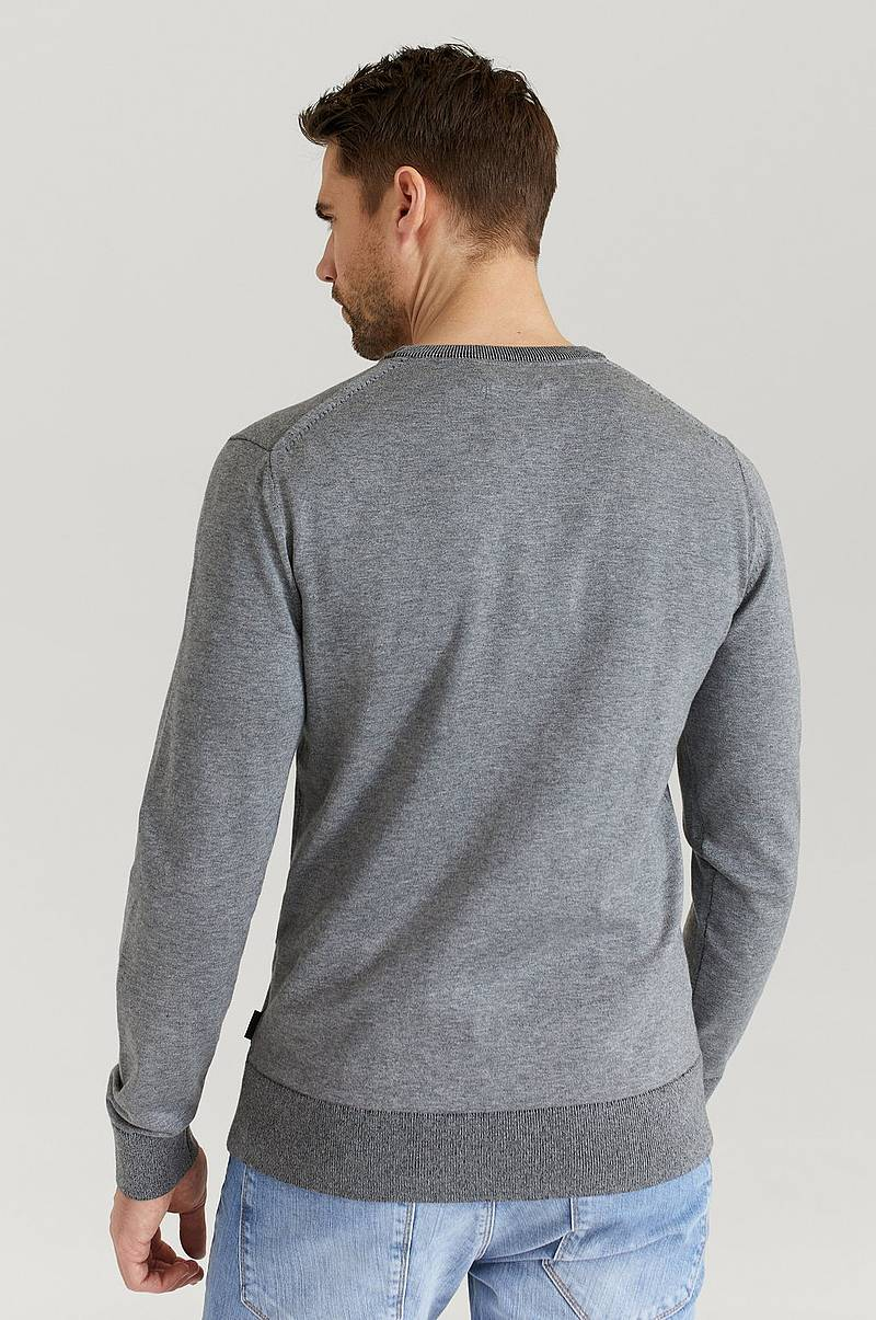 Stickad Tröja Cotton Silk C-Neck Sweater