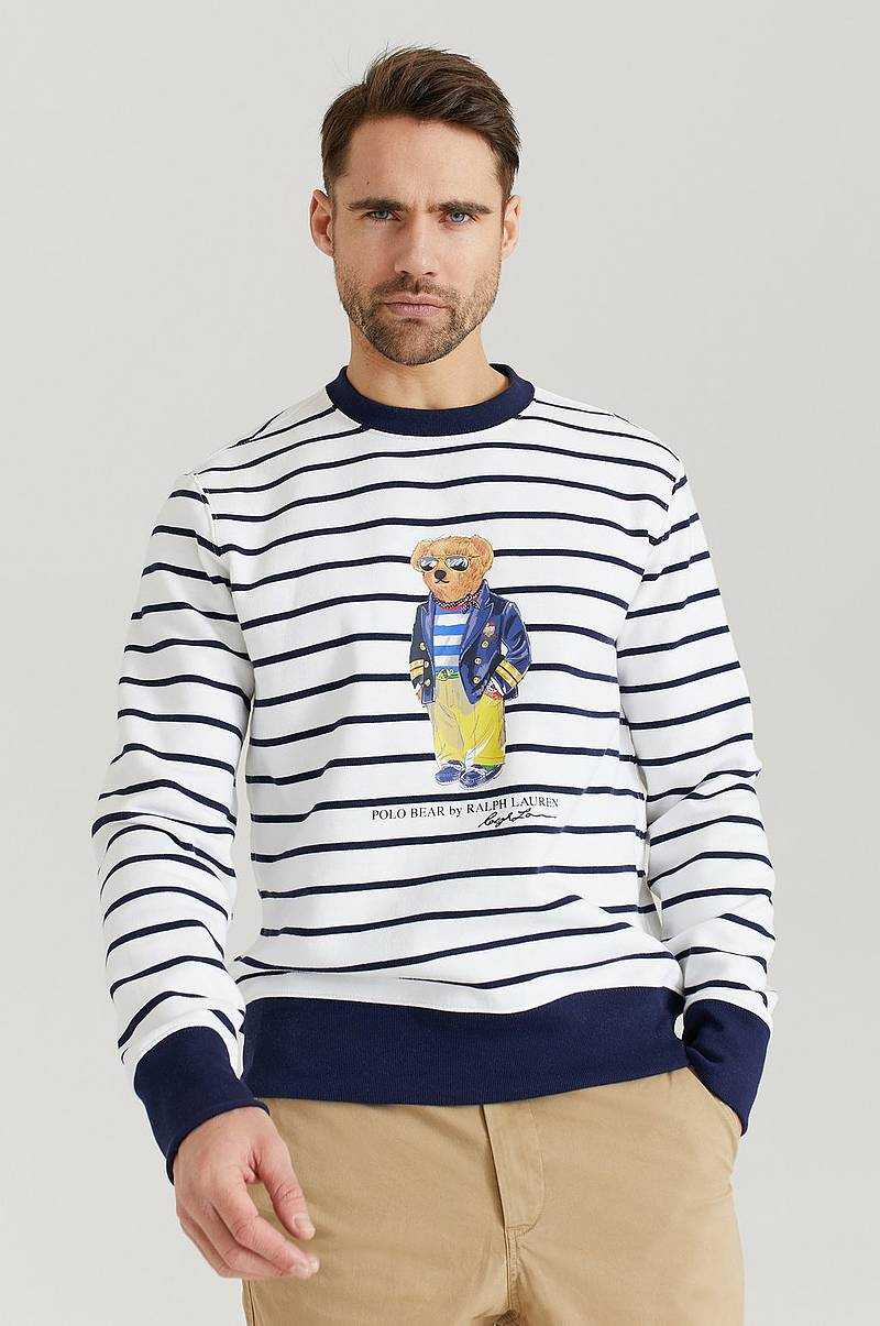 Sweatshirt KSC30 Striped Bear Sweater