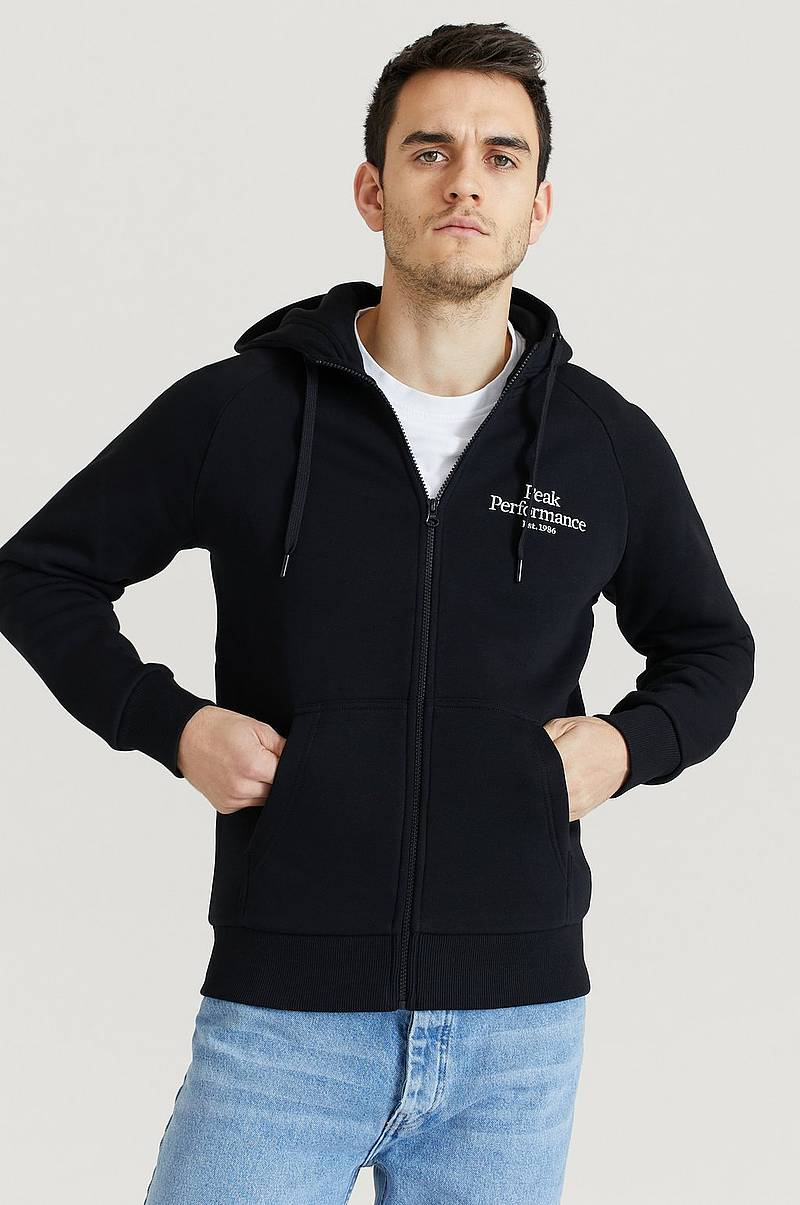 Huppari M Original Zip Hood-Black