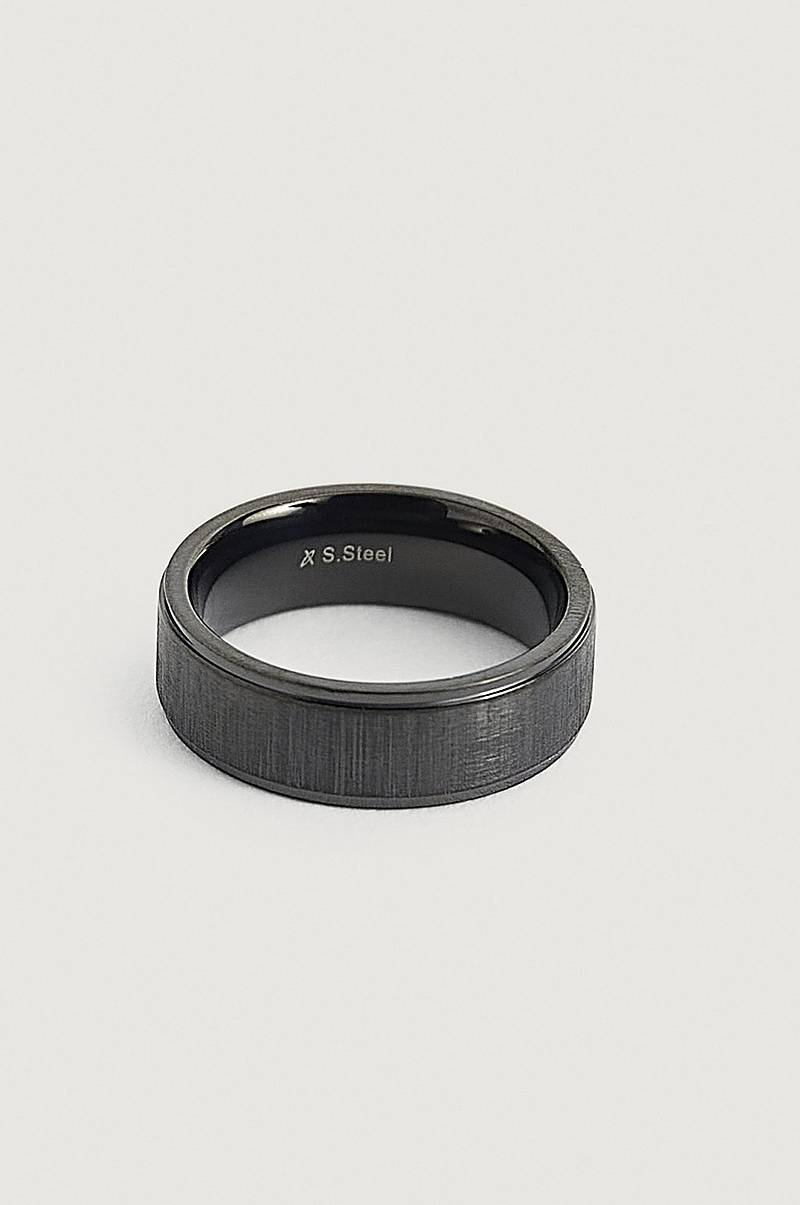 Ring Black Steel