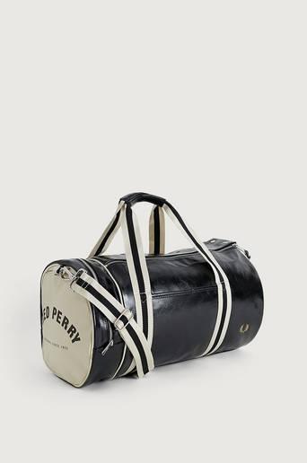 Fred Perry Weekendbag Classic Barrel Bag Svart