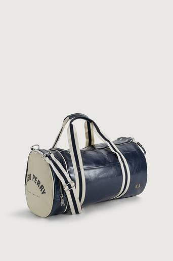 Fred Perry Weekendbag Classic Barrel Bag Blå
