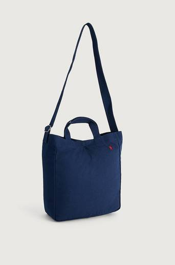 Polo Ralph Lauren Tygpåse Canvas Tote Bag Blå