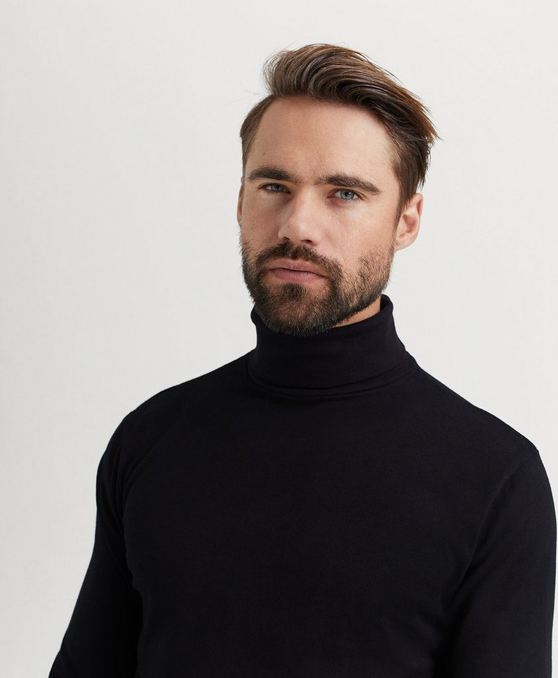 Polotröja David Roll Neck