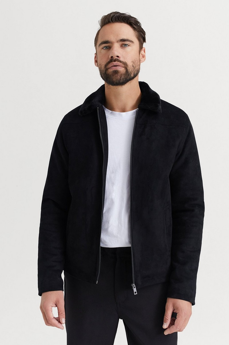 Teddy Fake Suede Jacket