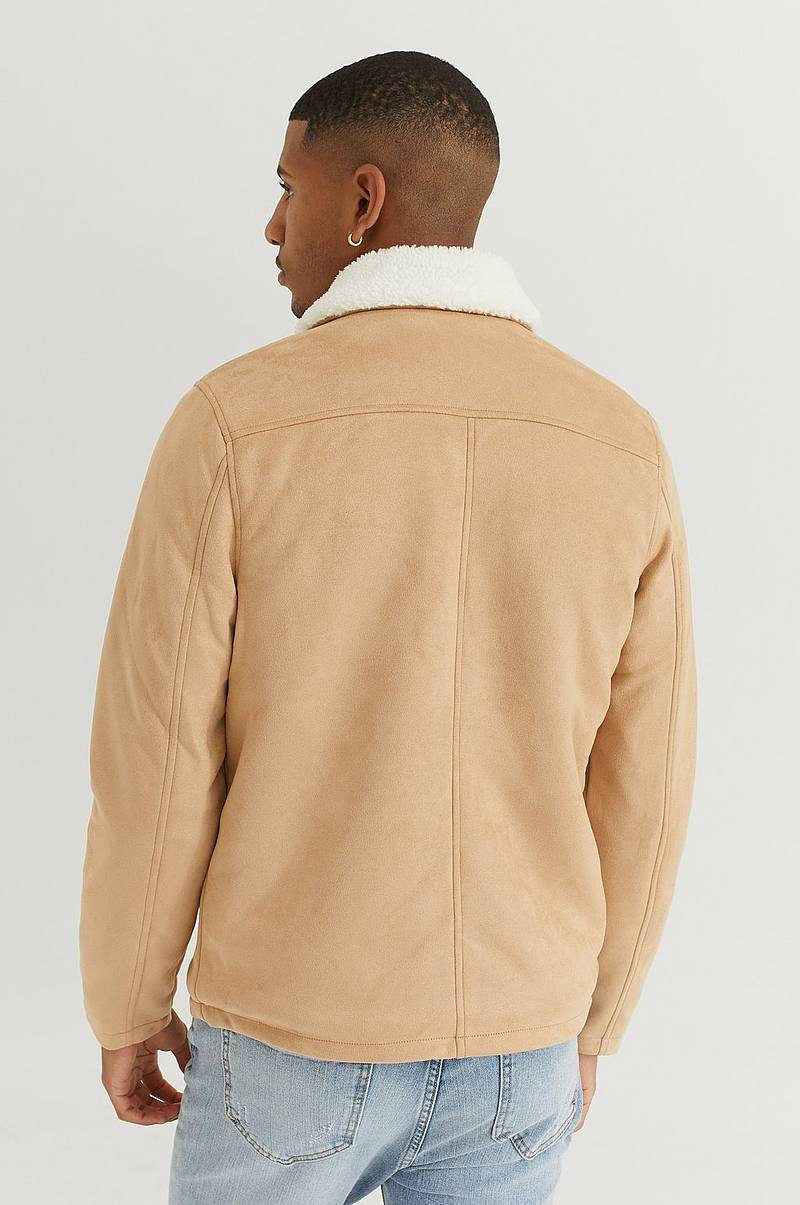 Jacka Teddy Fake Suede Jacket