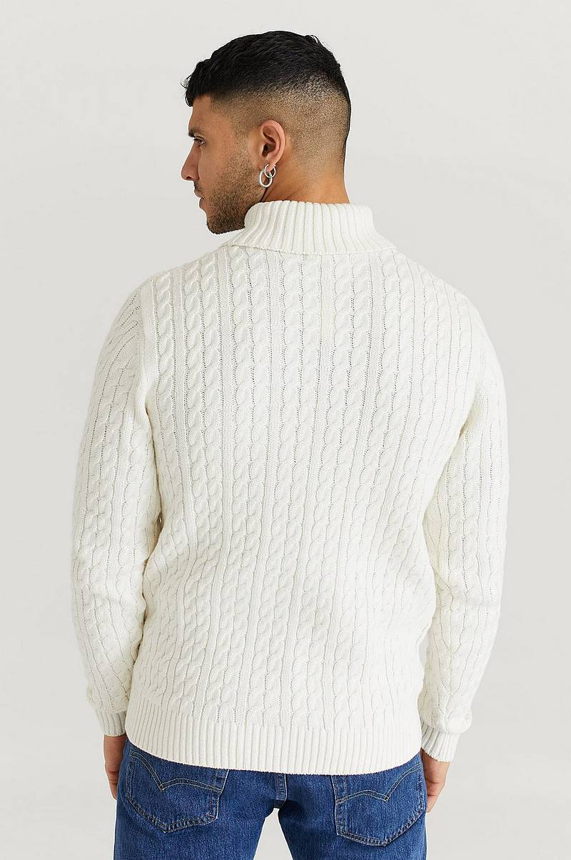 Polotröja John Cable Roll Neck