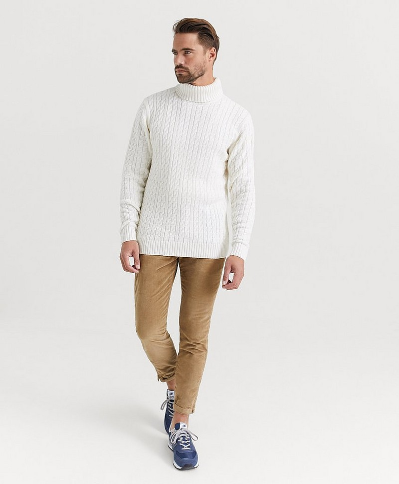 Pologenser John Cable Roll Neck