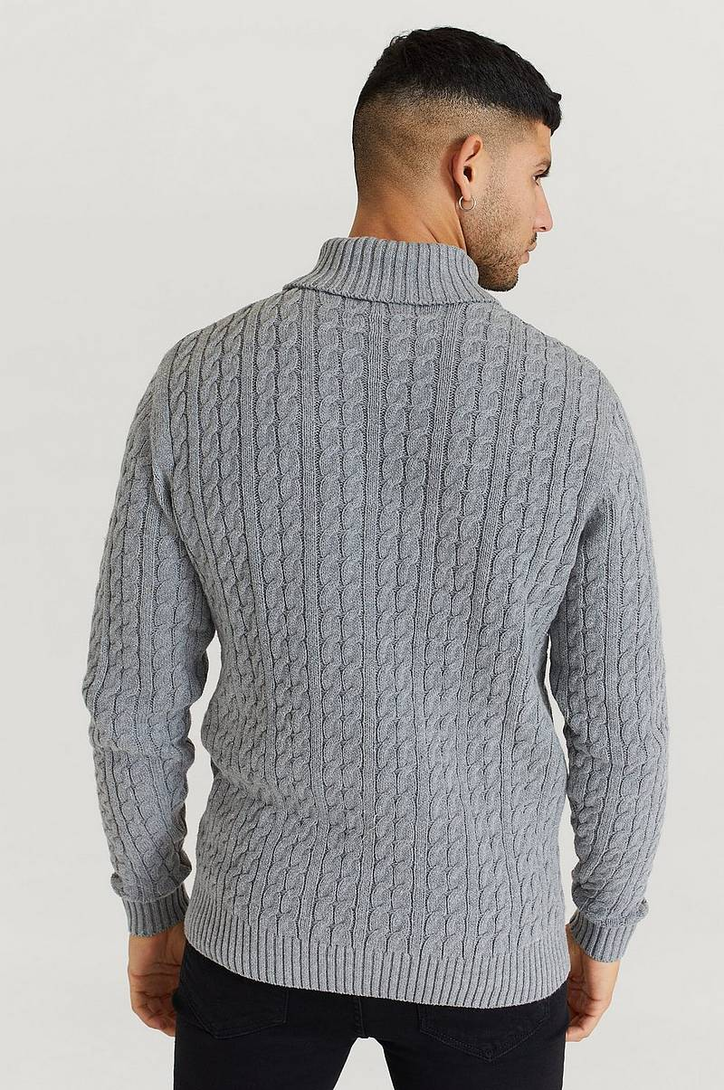 Pooloneule John Cable Roll Neck