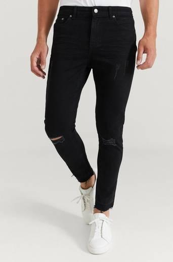 William Baxter Jeans Toby Skinny Cropped Jeans Svart