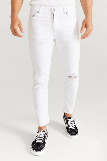 William Baxter Jeans Toby Skinny Cropped Jeans Vit