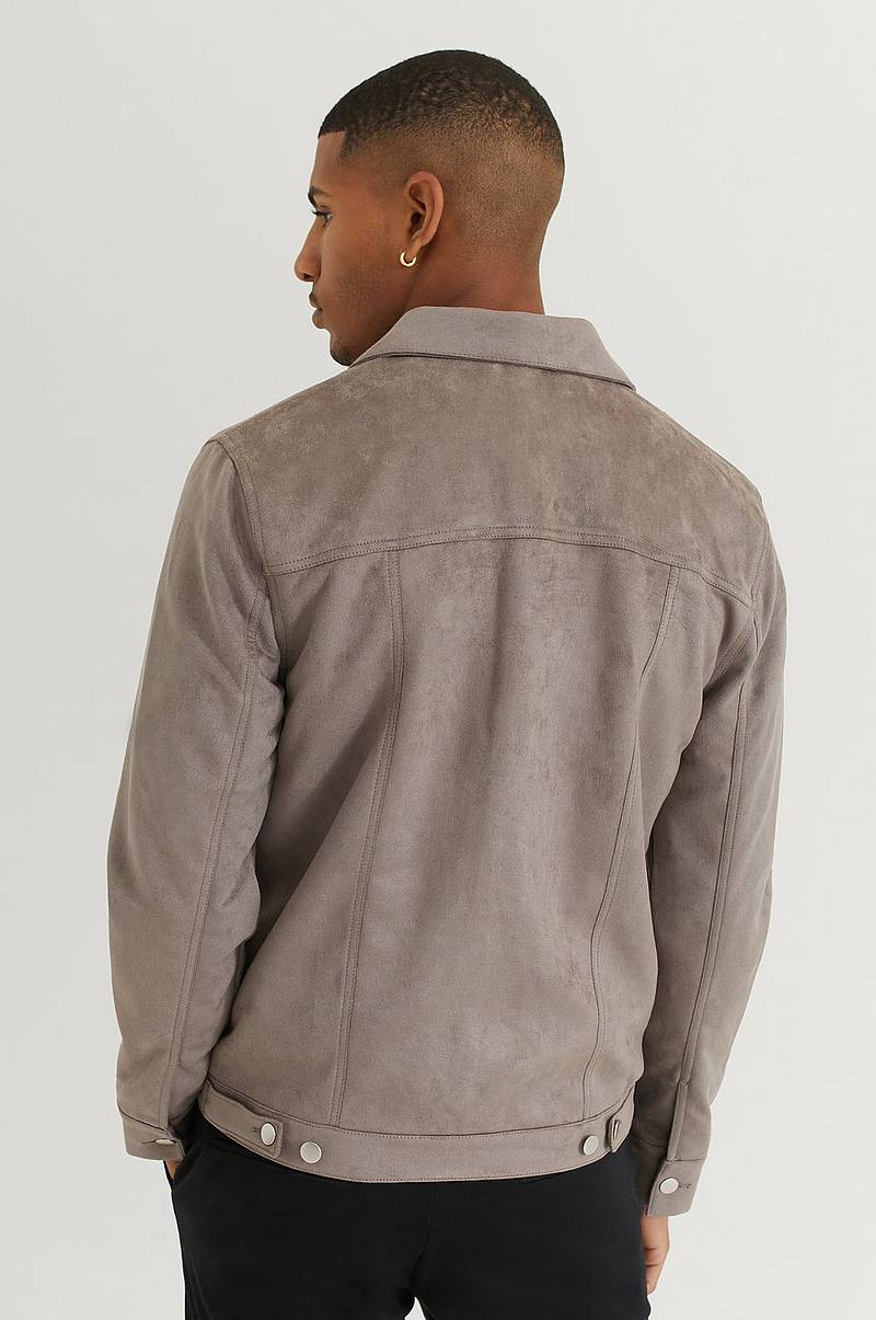 Jacka Fake Suede Trucker Jacket