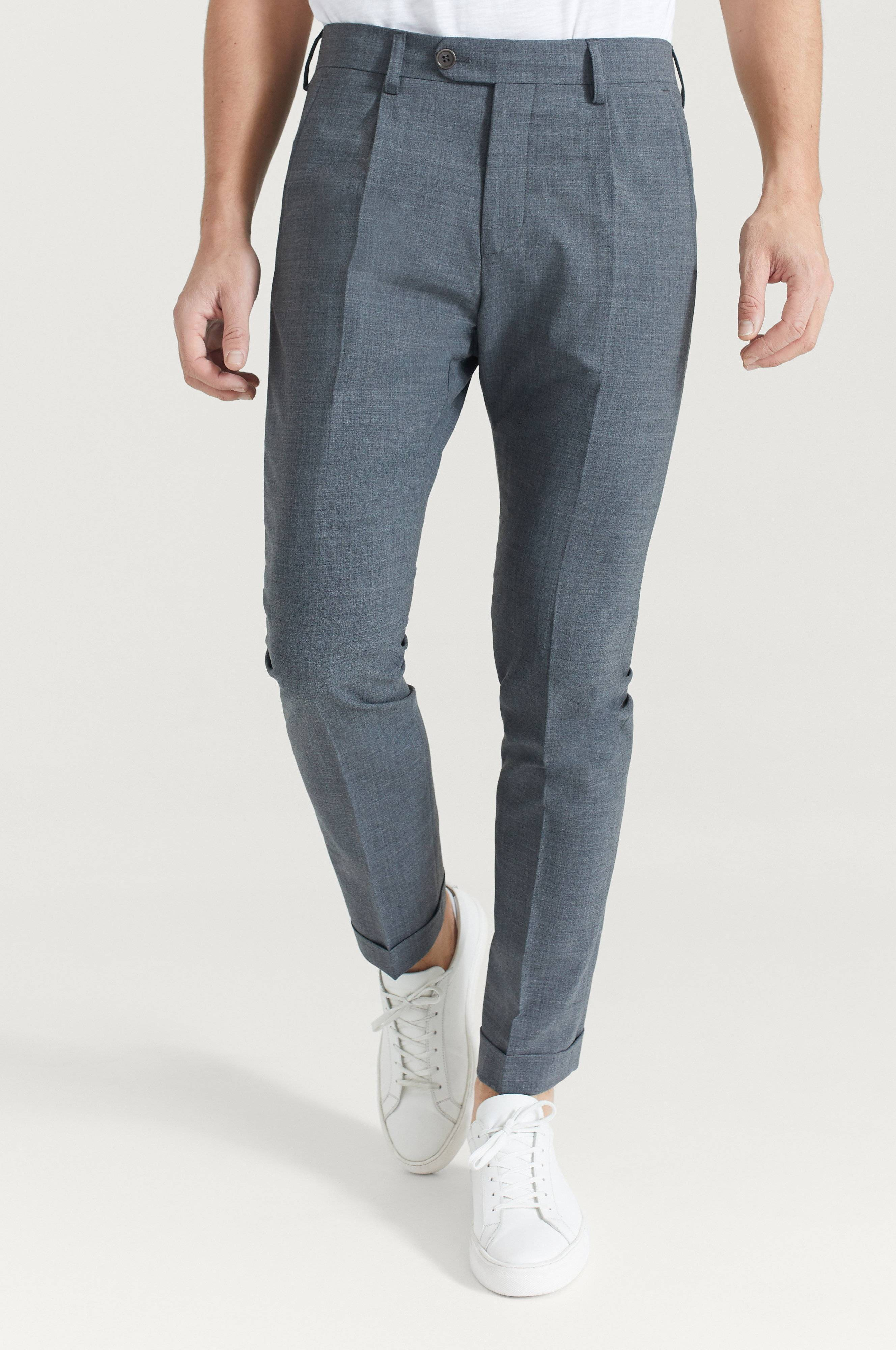 Pour Turn Up Trousers Grå