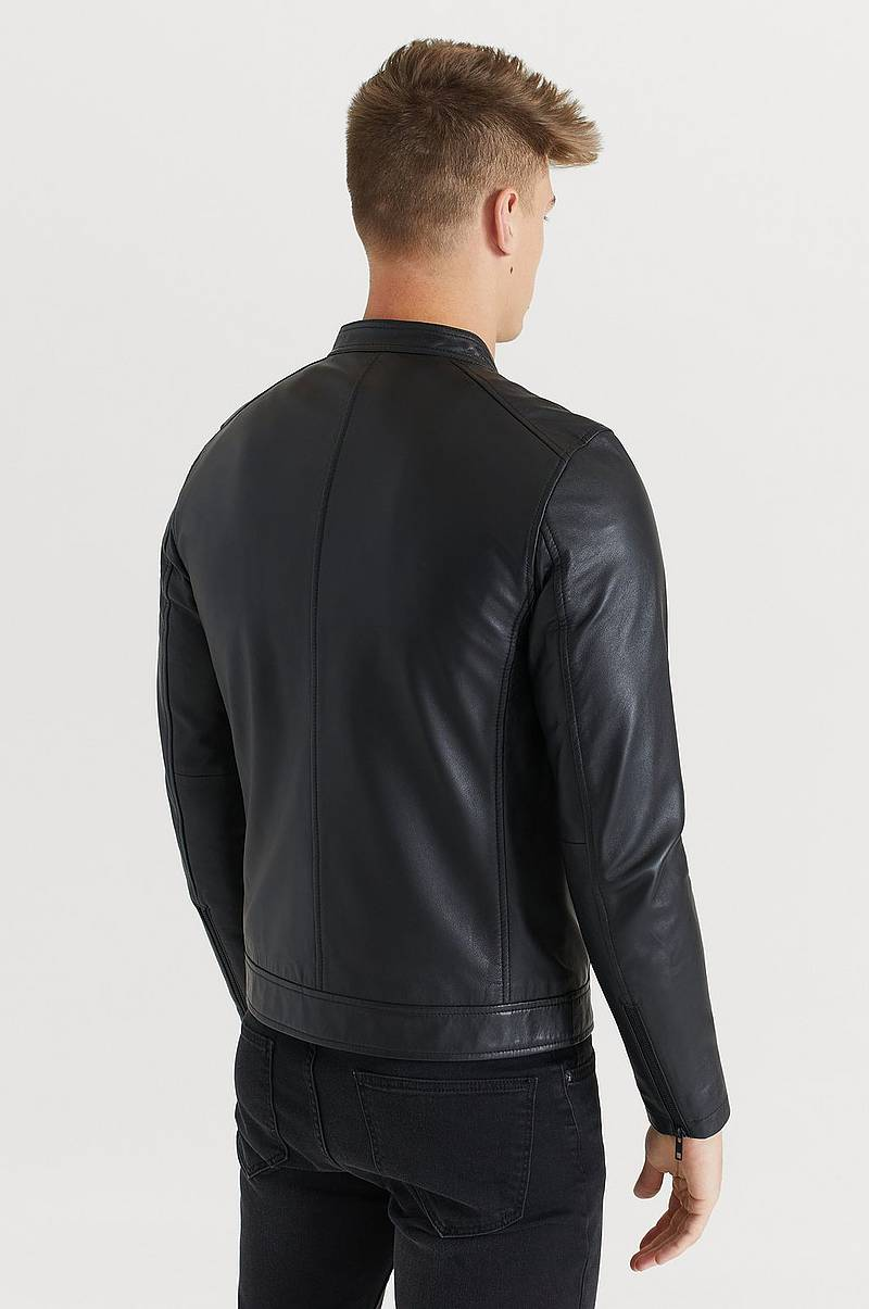 Skindjakke Racer Leather Jacket