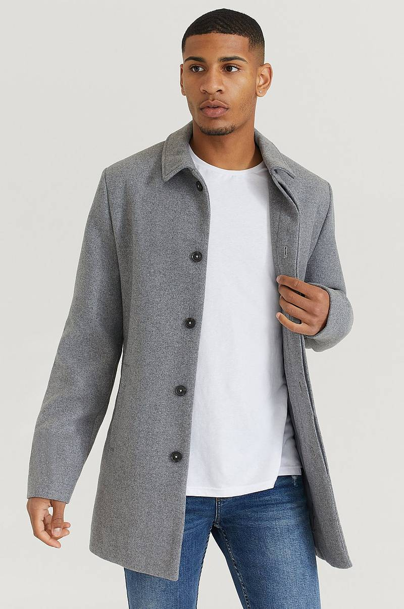 Frakk Clean Wool Coat