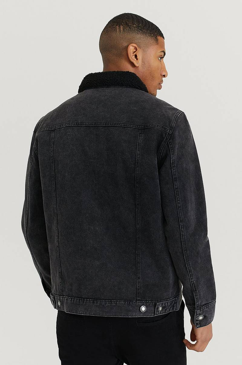 Jeansjakke Sherpa Denim Jacket