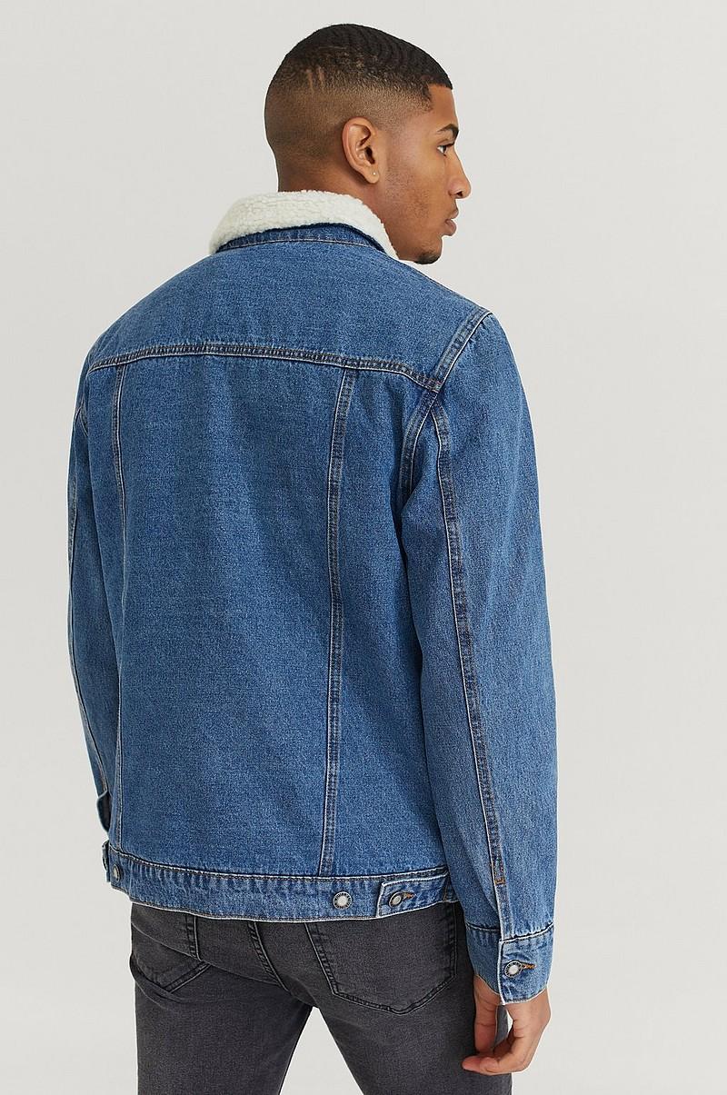 William Baxter Jeansjacka Sherpa Denim Jacket Blå Kläder