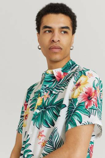 Studio Total Skjorta Printed Short Sleeve Shirt Vit