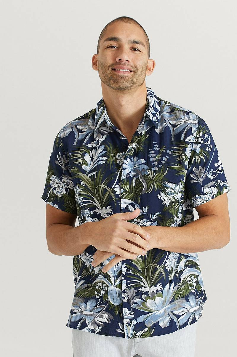 Kauluspaita Printed Short Sleeve Shirt