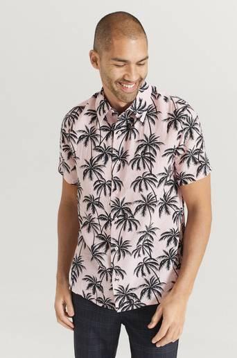 Studio Total Skjorta Printed Short Sleeve Shirt Rosa