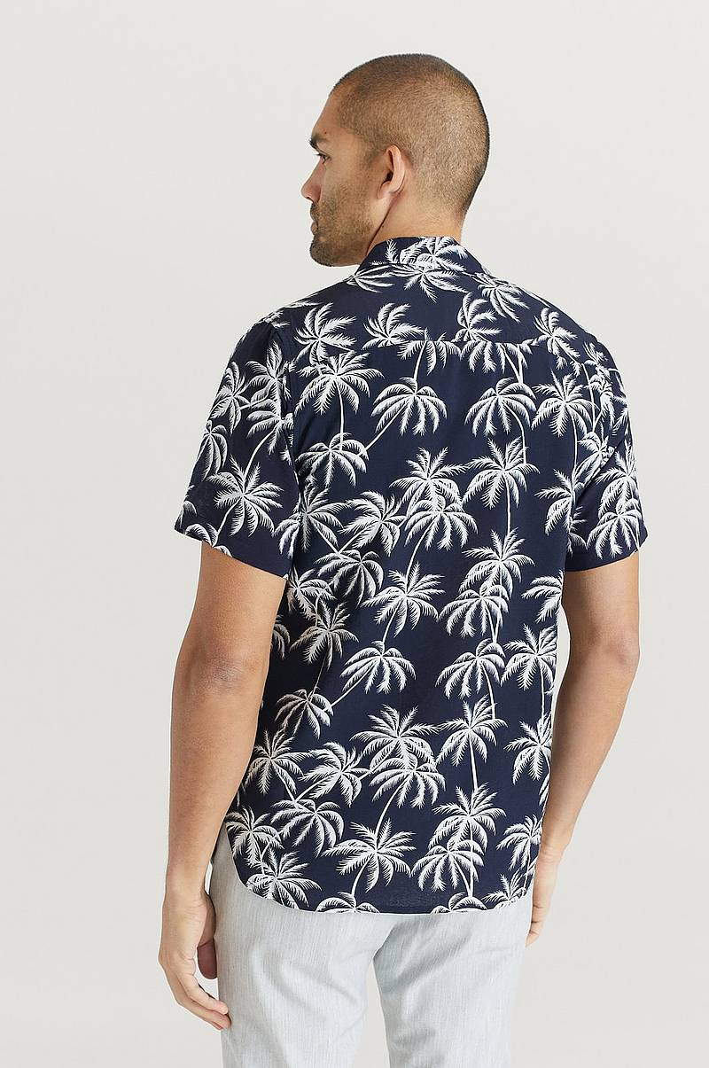 Skjorta Printed Short Sleeve Shirt