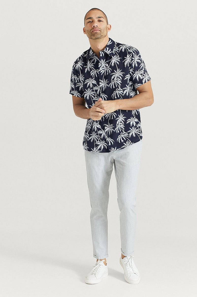 Skjorte Printed Short Sleeve Shirt