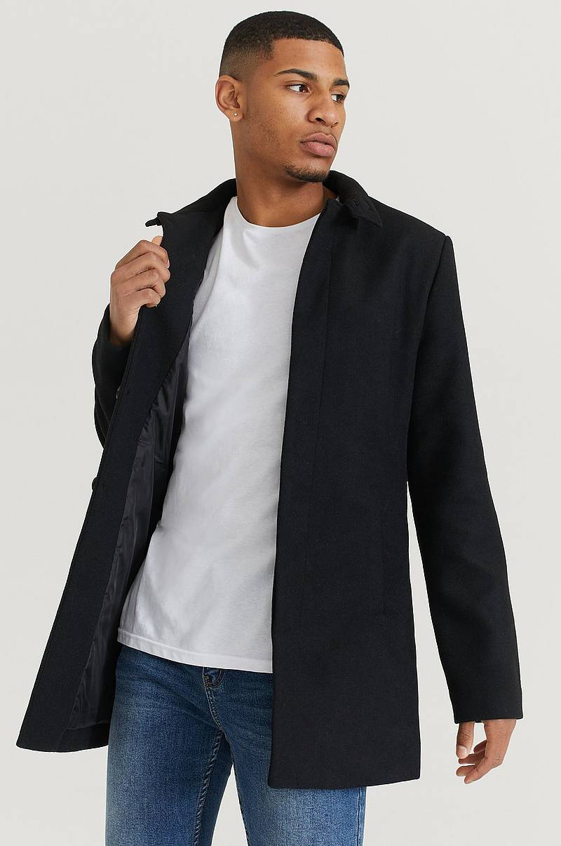 Frakk Stand Collar Coat