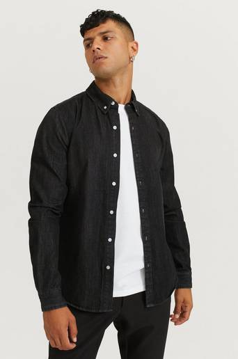 Studio Total Skjorta Classic Denim Shirt Svart