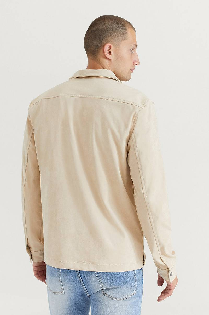 Overshirt Fake Suede Overshirt