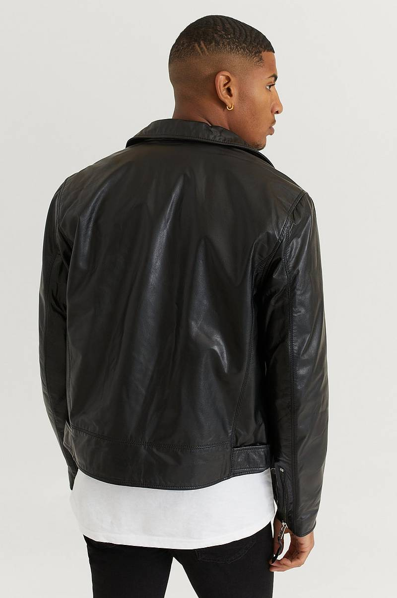 Skinnjakke Biker Leather Jacket