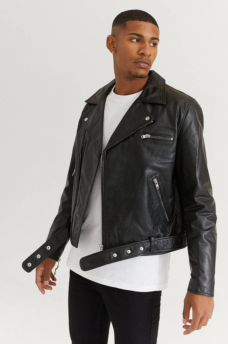 Skinnjacka Biker Leather Jacket