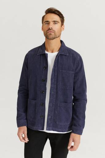 Studio Total Overshirt Favourite Cord Overshirt Blå