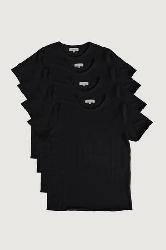 Studio Total T-shirt 4-pack Raw Tee Svart