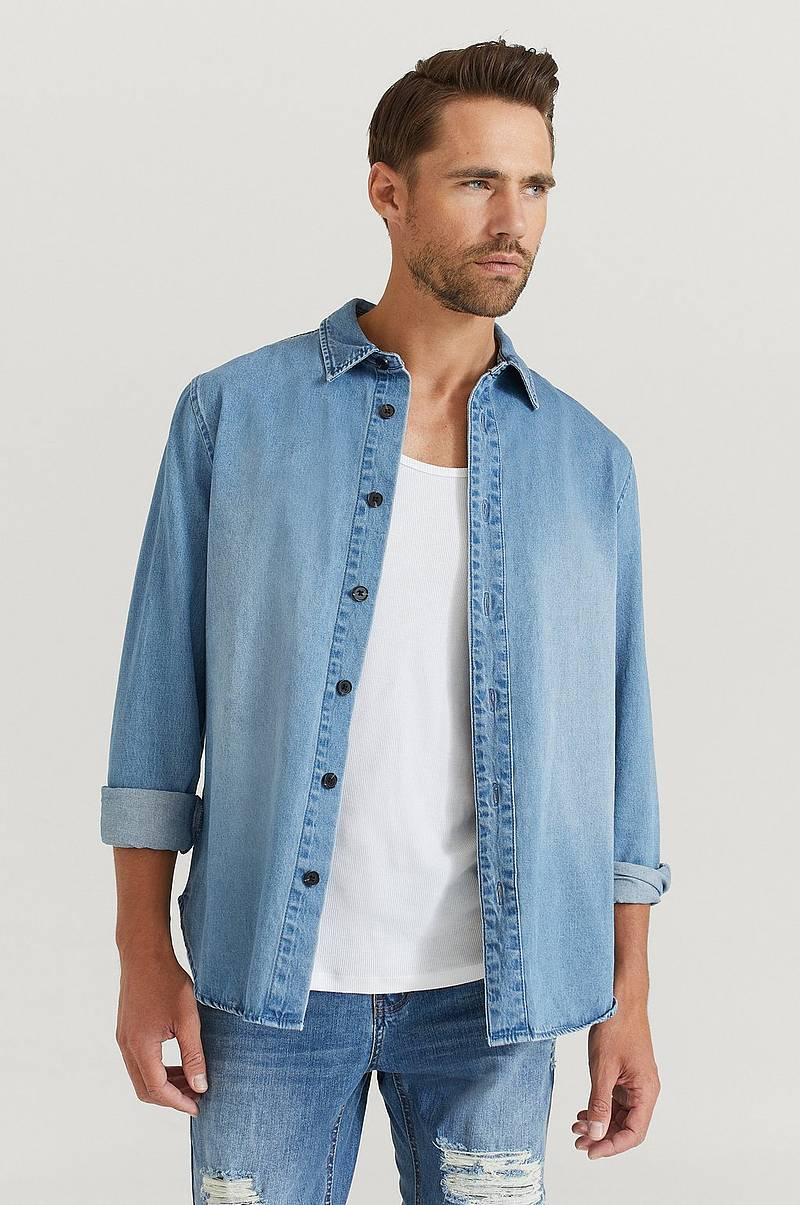 Jeansskjorta Heavy Denim Shirt