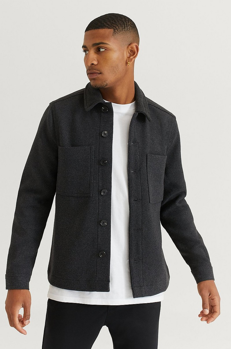 Overshirt Wool Overshirt With Pockets
