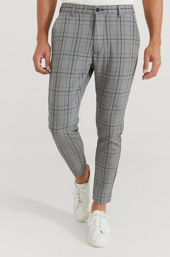 William Baxter Byxor Everyday Trousers Check Grå