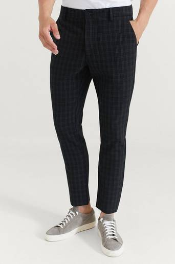 William Baxter Byxor Everyday Trousers Check Svart