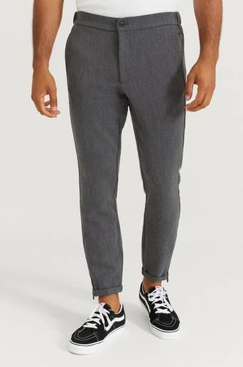 Studio Total Byxor Slim Zip Pants Grå