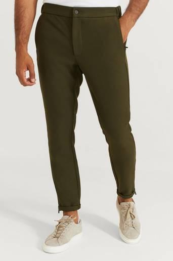 Studio Total Byxor Slim Zip Pants Grön