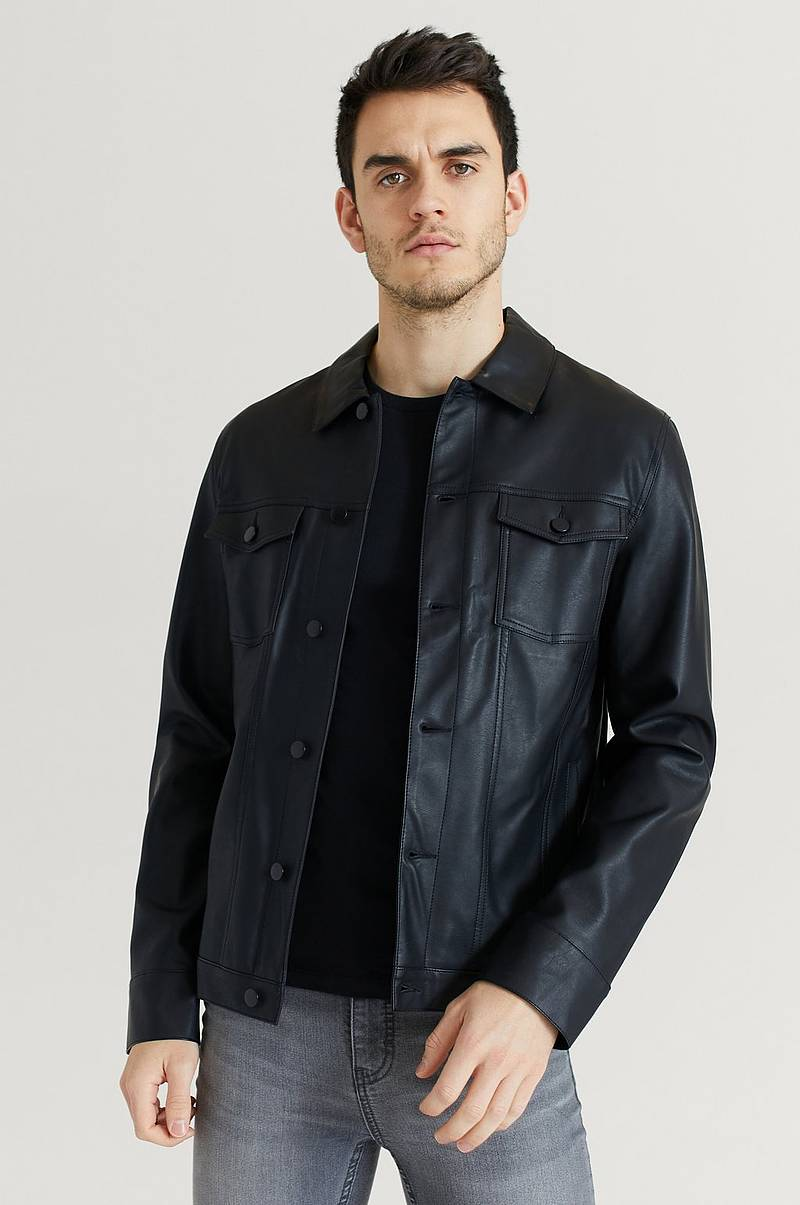 Jacka Trucker Jacket Fake Leather