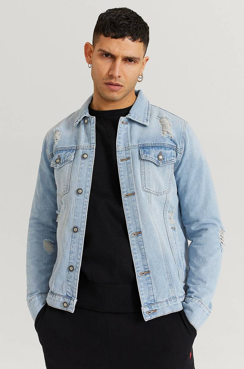 Jeansjacka Destroyed Denim Jacket