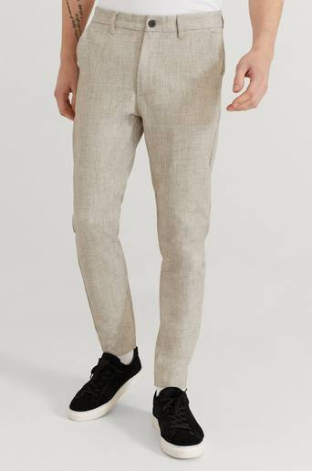 Studio Total Byxor Slim Slacks Beige
