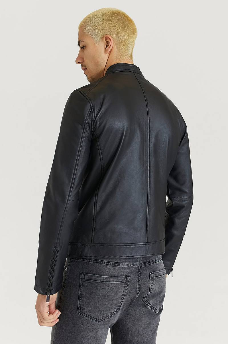 Skindjakke Clean Leather Racer Jacket